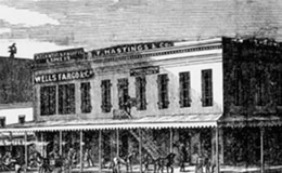 B.F. Hastings Building in Sacramento circa 1853 – 1st Building of the Supreme Court
